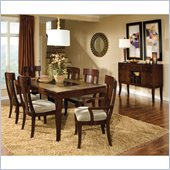 Standard Furniture Laguna 7 Piece Dining Set in Dark Merlot