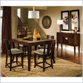Standard Furniture Laguna 5 Piece Counter Height Dining Set in Dark Merlot