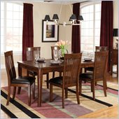 Standard Furniture Regency Rectangle Table with Leaf in Sienna Brown