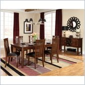 Standard Furniture Regency 7 Piece Dining Table Set in Sienna Brown