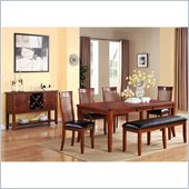 Standard Furniture Regency 6 Piece Dining Table Set in Sienna Brown