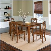 Standard Furniture Branson 5 Piece Dining Table Set in Antique Oak