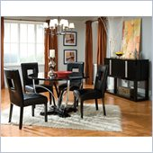 Standard Furniture Folio 5 Piece Dining Set in Black High Gloss Finish