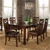 Standard Furniture Sonoma Rectangle Wood Dining Table in Warm Oak