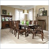 Standard Furniture Embassy Double Pedestal Dining Table in Shiraz Cherry