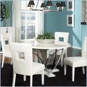 Standard Furniture Meridian Round Dining Table in White Gloss