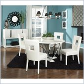 Standard Furniture Meridian 5 Piece Dining Set in White Gloss