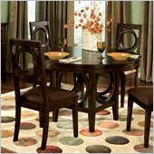 Standard Furniture Coterno Round Dining Table in Dark Coffee