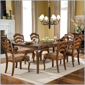 Standard Furniture Crossroad Dining Table in Rustic Brown