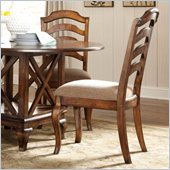 Standard Furniture Crossroad Side Chair in Rustic Brown