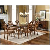 Standard Furniture Crossroad 7 Piece Dining Set in Rustic Brown
