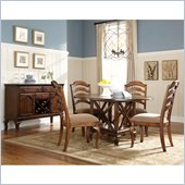 Standard Furniture Crossroad 5 Piece Dining Set in Rustic Brown