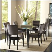 Standard Furniture Parisian Dining Table with Leaf in Gloss Black