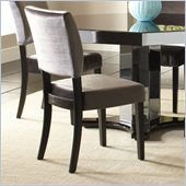 Standard Furniture Parisian Side Chair in Charcoal Gray Velvet