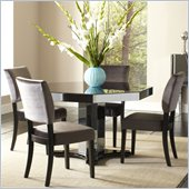Standard Furniture Parisian Octagon Dining Table in Gloss Black