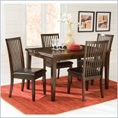 Standard Furniture Peyton Dining Table Set in Dark Merlot