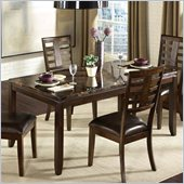 Standard Furniture Bella Marbella Top Dining Table in Chocolate Cherry