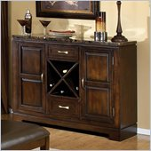 Standard Furniture Bella Marbella Top Server in Chocolate Cherry