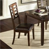 Standard Furniture Bella Side Chair in Chocolate Cherry