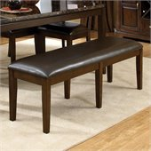 Standard Furniture Bella Bench in Chocolate Cherry