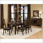 Standard Furniture Bella Marbella 7 Piece Dining Set in Chocolate Cherry