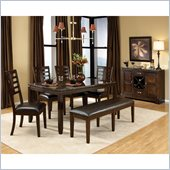 Standard Furniture Bella Marbella 6 Piece Dining Set in Chocolate Cherry