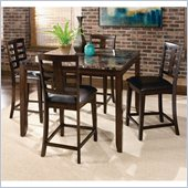 Standard Furniture Bella Marbella 5 Piece Dining Set in Chocolate Cherry