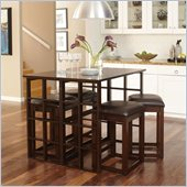 Standard Furniture Madison Park Bar Height Dining Set in Warm Brown