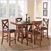 Standard Furniture Sundance Counter Height Table Set in Rich Brown