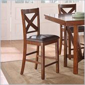 Standard Furniture Sundance Stool in Rich Brown