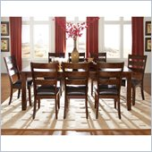 Standard Furniture Abaco 9 Piece Dining Set with Leaf in Tobacco Brown