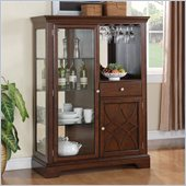 Standard Furniture Woodmont Display Server in Brown Cherry