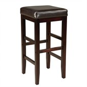 Standard Furniture Smart Stools Bar Height Square Brown Uplholstered