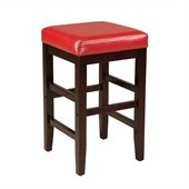 Standard Furniture Smart Stools Counter Height Square Red Upholstered