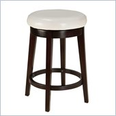 Standard Furniture Smart Stools Counter Height Round White Upholstered