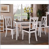 Standard Furniture Frisco Bay Dining Set in White and Merlot Cherry
