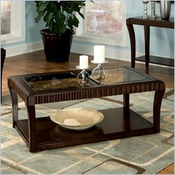 Standard Furniture Malibu Coffee Table with Casters in Dark Chocolate