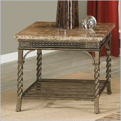 Standard Furniture Cristiano End Table in Antique Bronze