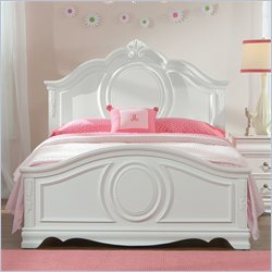 Standard Furniture Jessica Sleigh Bed in Clean White Finish