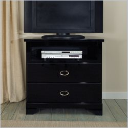Standard Furniture Meridian TV Chest in Black Sheen