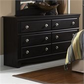 Standard Carlsbad Double Dresser in Dark Pecan