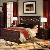 Standard City Crossing Bed 2 Piece Cherry Bedroom Set