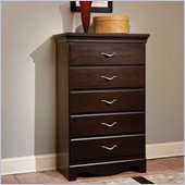 Standard City Crossing 5 Drawer Chest in Cherry Finish