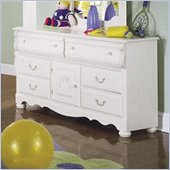 Standard Diana  White Wash Double Dresser