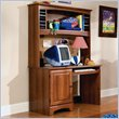 ADD TO YOUR SET: Standard City Park Wood Student Computer Desk with Hutch in Cherry 