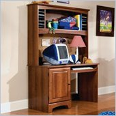 Standard City Park Wood Student Computer Desk with Hutch in Cherry