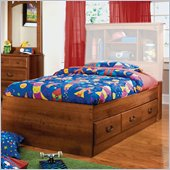 Standard Furniture City Park Kids Twin Captain's Bed in Cherry Finish