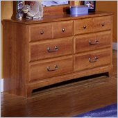 Standard City Park Kids Double Dresser in Cherry Finish