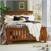 Standard City Park Series Slat Bed in Cherry Finish