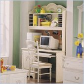Standard Diana Wood Desk with Hutch in White Wash